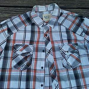 Rustic Blue Shirts - Plaid shirt